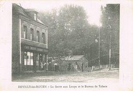 DEVILLE Les ROUEN (Seine-Maritime) - La Sente Aux Loups Et Le Bureau De Tabacs - Café - Epicerie - Animée - Other Municipalities