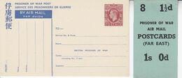 ( Grande Bretagne Angleterre  Air Mail Entier Stationery  Ganzsachen CP Service Des Prisonniers De Guerre - Entiers Postaux