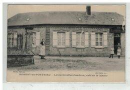 80 BERNAY EN PONTHIEU #14795 LESCARMOUTIER CAUDRON CAFE DE LA MAIRIE - Sonstige Gemeinden