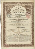 Titre Ancien - Distillerie & Malterie De L'Ancre - Société Anonyme - Titre De 1896 - - Industry