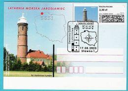 Poland 2020. Postcard, Lighthouse JAROSLAWIEC, Phare, Limited Edition 260 Pcs - Lighthouses