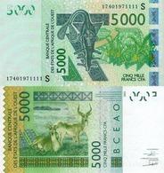 WEST AFRICAN STATES, GUINEA-BISSAU, 5000, 2017, Code S, P917Sg, UNC - Guinea–Bissau