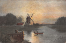 R434338 Windmill. Inter Art. Florence House. Barnes. London. Colour Gravure Series. No. 5012 - Monde