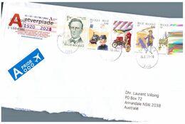 (L 23) Belgium Posted To Australia (2 Covers) - Belgium