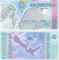 Antarctica 2 Dollars 2008 Polymer Banknotes  UNC - Banknotes