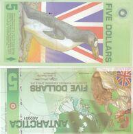 Antarctica 5 Dollars 2008 Polymer Banknotes  UNC - Banknotes