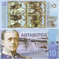 Antarctica 10 Dollars 2011 Polymer Banknotes  UNC - Banknotes