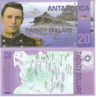 Antarctica 20 Dollars 2008 Polymer Banknotes  UNC - Banknotes