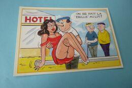 BELLE ILLUSTRATION HUMORISTIQUE ......PETANQUE....LA BELLE AU LIT !!!! - Humour