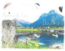 DOUSSARD HAUTE SAVOIE SOURCE DU LAC ( PARAPENTE, FLEURS, PONT, BATEAUX ) PAP ENTIER POSTAL FLAMME NEOPOST 2008, A VOIR - Vacances & Tourisme