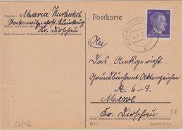 DR - 6 Pfg. AH Postkarte Kleinkrug (Kr. Dirschau) - Mewe 1942 - Germany
