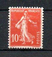 J1-19 France N° 138c ** à 10% De La Côte. A Saisir !!! - 1906-38 Semeuse Camée