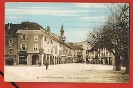 74- LA ROCHE-sur-FORON - Place De L'Hotel De Ville- Cpsm Circulée 1923 - La Roche-sur-Foron