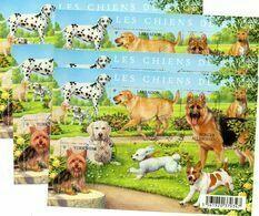 (L72) France 2011 Feuillet N° 4545 (chiens De Race) Oblitéré Cachet Rond Et Gommé, Par 5 Exemplaires - Oblitérés