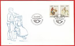 DENMARK - 1989 FDC «National Costumes - Nordic Issue» Mi# 947-48 - Danimarca