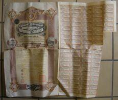 1914 China Chine 2 Obligations De 500 Francs Emprunt Industriel Du Gouvernement De La République Chinoise Voir Etat - Industry