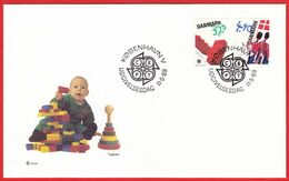 DENMARK - 1989 FDC «Children Toys» Mi# 950-51 - Danimarca