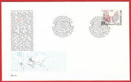 DENMARK - 1989 FDC «IPU - Interparliamentary Union Centenary» Mi# 954 - Danimarca