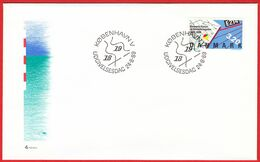DENMARK - 1989 FDC «Fish- And Oceanic Studies Centenary» Mi# 955 - Danimarca