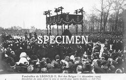 Funérailles De Léopold II Rois Des Belges - Bénédiction Du Corps Avant La Mise En Marche Pour Saint-Gudule - Personaggi Famosi
