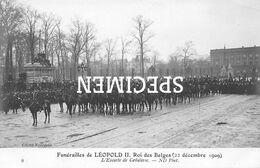 Funérailles De Léopold II Rois Des Belges - L'Escorte De Cavalerie - Personaggi Famosi