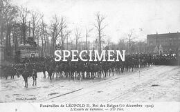 Funérailles De Léopold II Rois Des Belges - Escorte De Cavalerie - Personaggi Famosi