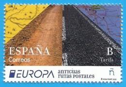 España. Spain. 2020. EUROPA . Antiguas Rutas Postales - 2011-... Nuovi & Linguelle