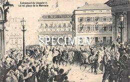 Avènement De Léopold II - Le Roi Place De La Monnaie - Personaggi Famosi