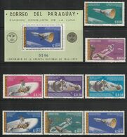 PARAGUAY - N°863/7+PA N°447/9+BLOC N°89 ** (1966) Gémini 8 Et 10 - ESPACE - - South America