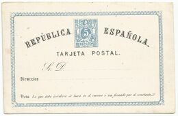 Spain España Postal Stationery Entero Tarjeta Mint 1873 Laiz # 1a - 1850-1931