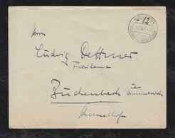 Französische Zone 1945 Brief Gebühr Bezahlt HUGSTETTEN über FREIBURG - Zona Francesa