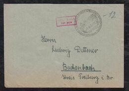 Französische Zone 1945 Brief Gebühr Bezahlt UNTERUHLDINGEN Freilichtmuseum Bodensee - Zona Francesa
