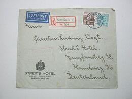 1929 , Reco - Luftpost - Brief Nach Deutschland - 1913-47 (Christian X)
