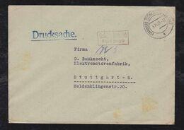 Französische Zone 1945 Brief Druchsache Gebühr Bezahlt HORNBERG SCHWARZWALDBAHN - Zona Francesa