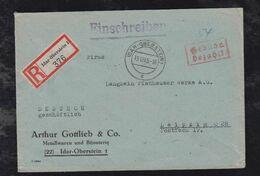 Französische Zone 1945 Einschreiben Brief Gebühr Bezahlt IDAR OBERSTEIN - Zona Francesa