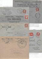 Lot De 6 Env. Lot Et Garonne 1942-1943 - Postmark Collection (Covers)