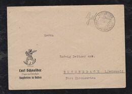 Französische Zone 1945 Brief Gebühr Bezahlt HUGSTETTEN über FREIBURG Zigarren Fabrik Werbung - Zona Francesa