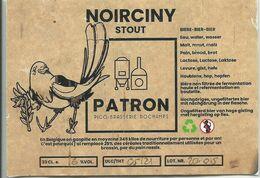 étiquette Décollée Bière Noirciny Stout Patron Brasserie Dochamps - Beer