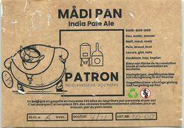 étiquette Décollée Bière Madi Pan India  Pale Ale Patron Brasserie Dochamps - Beer