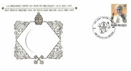 Enveloppe 2166 Première Visite Du Pape En Belgique - België
