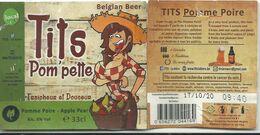 étiquette Décollée Bière Tits Pom Pette Brasserie ? - Beer