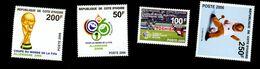 Cote D'Ivoire 2006-Football Allemagne -Coupe,mascotte MI 1483/6***MNH - 2006 – Alemania