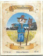 étiquette Décollée Bière L'Omalienne Citra Brasserie ? - Beer