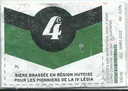 étiquette Décollée Bière La 4 Brasserie ? - Beer