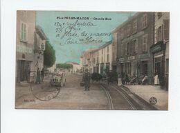 CPA - 71 - Flacé Les Macon Grande Rue - A VOIR - Other Municipalities