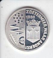 MONEDA DE PLATA DE HOLANDA DE 1 ECU DEL AÑO 1990 (COIN) SILVER,ARGENT. - [ 3] 1815-… : Royaume Des Pays-Bas