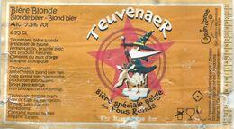 étiquette Décollée Bière Teuvenaer Brasserie Grain D'orge Hombourg - Beer