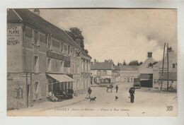 CPA COUILLY PONT AUX DAMES (Seine Et Marne) - COUILLY : Place Et Rue Gouas - Andere Gemeenten