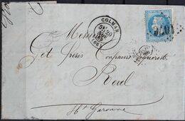 Lettre Du 20/11/1869 De Colmar  (66) GC 1076 Indice 2 Sur N° 29B - Postmark Collection (Covers)