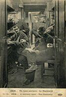 Un Train Sanitaire La Pharmacie. Heliotypie Le Delay  1914/15 WWI WWICOLLECTION - Oorlog 1914-18